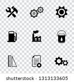 vector industrial icons set  ... | Shutterstock .eps vector #1313133605