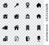 vector house buildings icons... | Shutterstock .eps vector #1313133608
