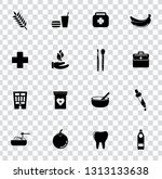 vector health care icons set.... | Shutterstock .eps vector #1313133638