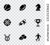 vector gaming icons set. video... | Shutterstock .eps vector #1313133662