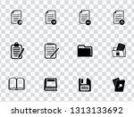 vector document file format  ... | Shutterstock .eps vector #1313133692