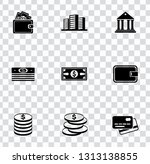 vector piggy banking icons set  ... | Shutterstock .eps vector #1313138855