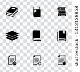 library books icons set  ... | Shutterstock .eps vector #1313138858