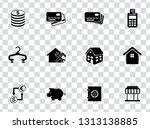 vector shopping   commerce... | Shutterstock .eps vector #1313138885
