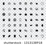 web icons set for computer.... | Shutterstock .eps vector #1313138918