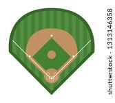 sport baseball field   Shutterstock .eps vector #1313146358