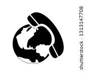 telephone icon. vector...