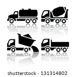 set of transport icons   tipper ... | Shutterstock .eps vector #131314802
