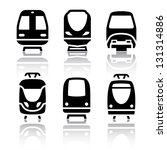 set of transport icons   train... | Shutterstock .eps vector #131314886