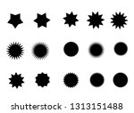 vector black star. price tag or ... | Shutterstock .eps vector #1313151488