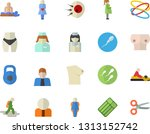 color flat icon set person flat ...