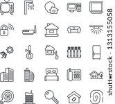 thin line icon set   tv vector  ... | Shutterstock .eps vector #1313155058