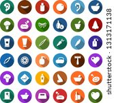 color back flat icon set  ... | Shutterstock .eps vector #1313171138