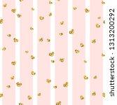 gold heart seamless pattern.... | Shutterstock . vector #1313200292