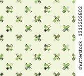 seamless vector pattern.... | Shutterstock .eps vector #1313203802