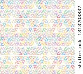 seamless vector pattern.... | Shutterstock .eps vector #1313203832
