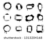 set of spray graffiti stencil... | Shutterstock .eps vector #1313204168