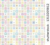seamless vector pattern.... | Shutterstock .eps vector #1313205812