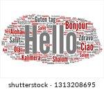vector concept or conceptual... | Shutterstock .eps vector #1313208695