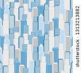 vector city seamless pattern.... | Shutterstock .eps vector #1313213882
