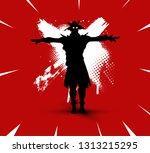 fortnite illustration. battle... | Shutterstock .eps vector #1313215295