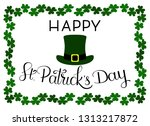 st. patrick's day card template ... | Shutterstock .eps vector #1313217872