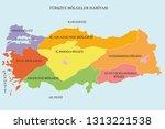map of turkey regions  turkey...   Shutterstock .eps vector #1313221538
