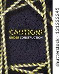 Caution  Vector Background.