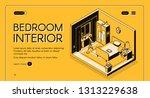 interior design atelier ... | Shutterstock .eps vector #1313229638