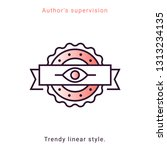 author's supervision icon in...