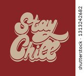 stay chill. vector hand drawn...   Shutterstock .eps vector #1313242682