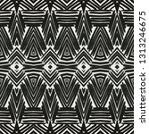 black and white abstract... | Shutterstock . vector #1313246675
