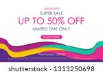 super sale banner template... | Shutterstock .eps vector #1313250698