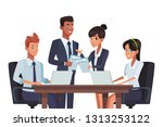 business teamwork meeting | Shutterstock .eps vector #1313253122