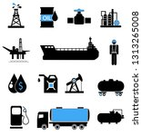 oil icon set | Shutterstock . vector #1313265008