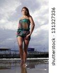 the beautiful women on the beach | Shutterstock . vector #131327336
