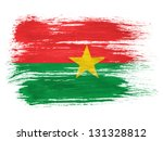 burkina faso flag on white... | Shutterstock . vector #131328812