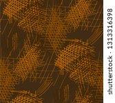 various hatches. seamless... | Shutterstock .eps vector #1313316398