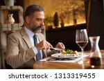 portrait of handsome senior man ...   Shutterstock . vector #1313319455