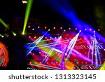stage lighting effect in the...   Shutterstock . vector #1313323145