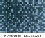 abstract blue square mosaic... | Shutterstock . vector #1313331215