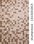 abstract brown square mosaic... | Shutterstock . vector #1313331815