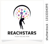 children reach stars logo... | Shutterstock .eps vector #1313334395