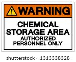 warning chemical storage area... | Shutterstock .eps vector #1313338328
