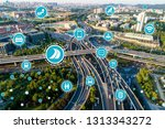 social infrastructure and... | Shutterstock . vector #1313343272