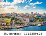 havana  cuba downtown skyline... | Shutterstock . vector #1313359625