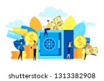 vector flat colorful... | Shutterstock .eps vector #1313382908