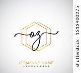 oz initial handwriting logo...   Shutterstock .eps vector #1313400275