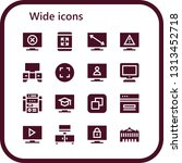 wide icon set. 16 filled wide... | Shutterstock .eps vector #1313452718