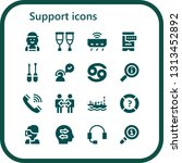 support icon set. 16 filled... | Shutterstock .eps vector #1313452892